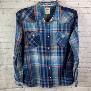 Levi's Men's Western Pearl Snap Flannel Shirt